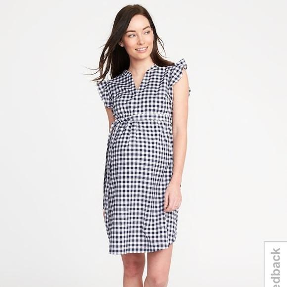 fb2b94560db Old Navy Dresses | Gingham Tiebelt Flutter Sleeve Dress | Poshmark